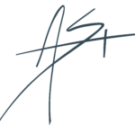 "Amy's ""A.S."" signature logo"